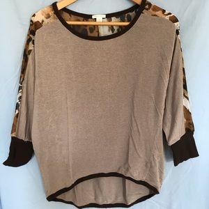 Cheetah print sweater top